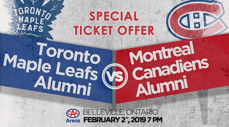 Toronto Maple Leafs vs Montreal Canadiens Alumni Game